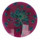 Knoop-bloem-maat-40-25.00mm-Roze-met-Blauwe-bloemvorm