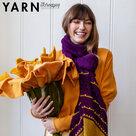Blooming-Wrap-sjaal-gemaakt-van-Scheepjes-Bamboo--Soft-met-Toho-kralen-door-Christina-Hadderingh--kleur-Geel--Paars--garen-haakpakket-+-kralen