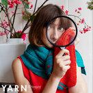 Blooming-Wrap-sjaal-gemaakt-van-Scheepjes-Bamboo--Soft-met-Toho-kralen-door-Christina-Hadderingh--kleur-Oranje-Groen-garen-haakpakket-+-kralen