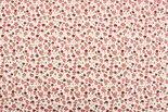 Bloemenstof-polyester-groen-donker-rood-roze
