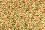 Bloemenstof-polyester-groen-geel-oranje