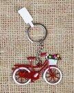 Sleutelhanger-fiets-Holland-met-mandje-tulpen-rood-van-metaal