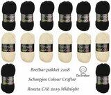 Breibar Pakket 2108 Midnight 7 X Ede 6 X Zandvoort, Scheepjes Colour Crafter voor Rozeta CAL 2019 - direct leverbaar _13