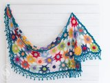 Durable Colourful Cosy Flower Shawl Breibar kleuren garen pakket 2 + Gratis download patroon_13
