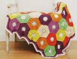 Hexagon Blanket Scheepjes Breibar kit 2021 Merino Soft inclusief patroon en label en een canvastas  met print_13