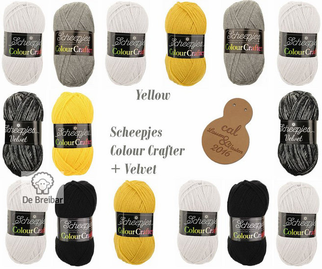 Lossen en Vasten Yellow Colour Crafter Scheepjes CAL