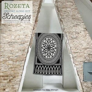 Scheepjes CAL 2019 Rozeta Our Tribe - Midnight met special edition projecttas! levering vanaf 18 september.