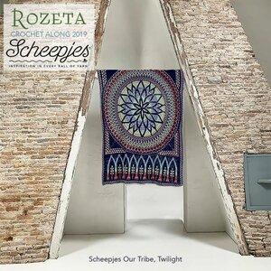 Scheepjes CAL 2019 Rozeta Our Tribe - Twilight met special edition projecttas!   levering vanaf week 47
