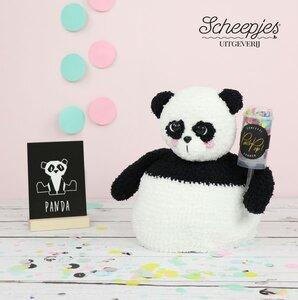 Pim de panda pop-up: Compleet pakket, inhoud: benodigde garen, veiligheidsoogjes, vilt en 200 gram vulling
