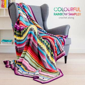 Rainbow Sampler Blanket CAL Scheepjes Colour Crafter Origineel - compleet deken haakpakket