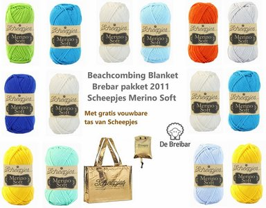 Beachcombing Blanket CAL 2020 - Scheepjes Merino Soft compleet garen pakket. Met kleur indeling