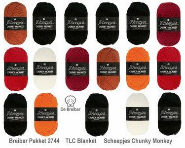 Breibar 2744 TLC Blanket  haakpakket Scheepjes Chunky Monkey compleet met handige wolnaald en 2 stekenmarkeerders