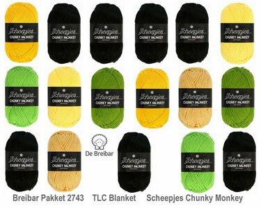 Breibar 2743 TLC Blanket  haakpakket Scheepjes Chunky Monkey compleet met handige wolnaald en 2 stekenmarkeerders
