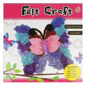 Viltpakket amigurumi voor kinderen vlinder compleet