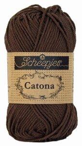 Scheepjes Catona 50gr. black coffee / donkerbruin 162
