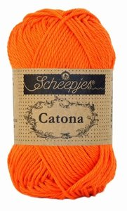 Scheepjes Catona 50gr. royal orange \ oranje 189