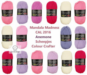 Mandala Madness Anemone Scheepjes Colourcrafter CAL