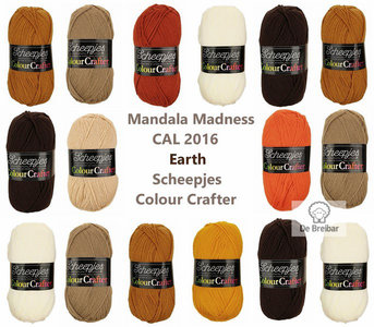 Mandala Madness Earth Scheepjes Colourcrafter CAL