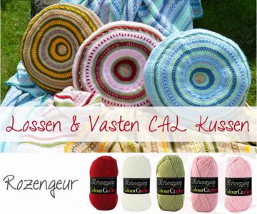 Rozengeur Kussen van Scheepjes Colour Crafter Lossen en Vasten