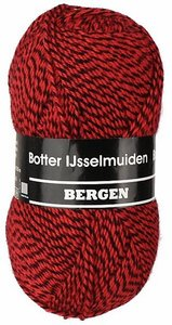 Botter IJsselmuiden  Bergen 160 rood zwart