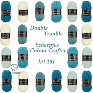 Double Trouble deken van Jolanda kit 101  Scheepjes Colour Crafter