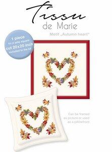 Tissu de Marie borduurpakket hartje