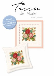 Tissu de Marie borduurpakket motief rozen