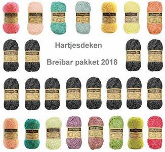 Hartjesdeken Stone Washed Scheepjes Breibar Pakket 2018 De Breibar