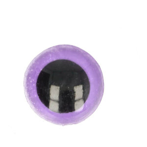 Veiligheidsoogjes tweekleurig Lila - Zwart 10 mm