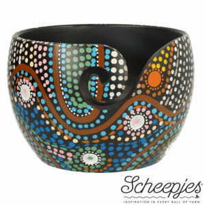 Limited Edition yarn bowl Aboriginal Scheepjes garen kom