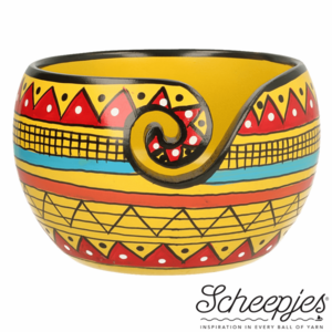 Limited Edition yarn bowl Yellow Stripe  Scheepjes garen kom