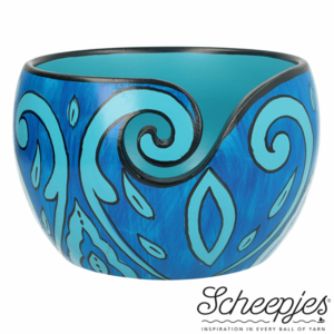 Limited Edition yarn bowl Blue Leaf Scheepjes garen kom