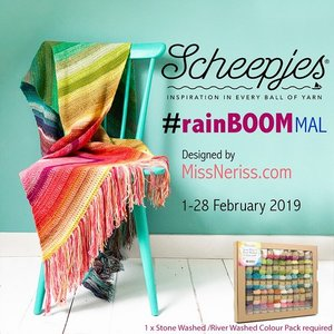 RainBOOM MAL  - Scheepjes Stone Washed en River Washed Colour Pack 58 kleuren 10 gram bolletjes