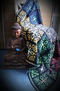 The Tibet Tiles crochet blanket Scheepjes Catona