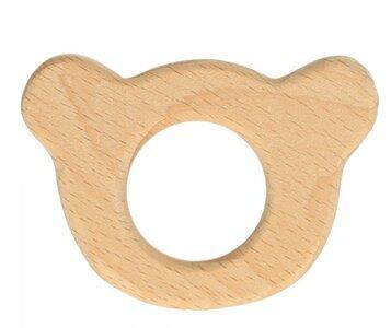 Bijtring beer hout 6,5x4,5cm Opry