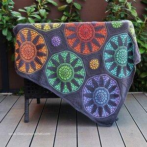 Stained Glass Wonder Blanket van Scheepjes Whirl en Whirlette compleet pakket met garen ( excl patroon)